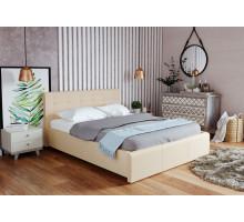 Кровать экокожа Лаура Беж 1400 с ортопедом, без матраса