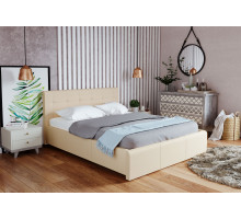 Кровать экокожа Лаура Беж 1800 с ортопедом, без матраса
