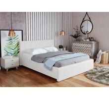 Кровать экокожа Лаура Вайт 1400 с подъемным механизмом, без матраса