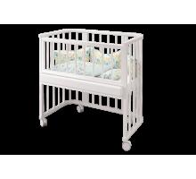 Кровать Эстель- приставная трансфор. белая