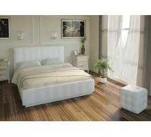 Кровать Лорена 140*200 с под. механизмом и ящиком для белья (без страз), белый