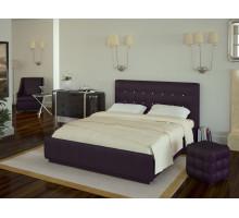 Кровать Лорена 160*200 с под. механизмом и ящиком для белья (без страз), фиолетовый