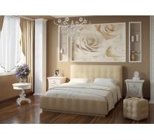 Кровать Лорена Лайт Беж 140*200 (без страз) + основание 140