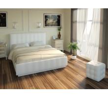 Кровать Лорена Легенд Вайт 160*200 с под. механизмом и ящиком для белья (без страз)