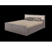 Кровать на 1600 с поддоном, без матраса Фиеста, ясень