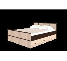 Кровать на 160, с настилом ДСП, без матраса Сакура