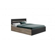 Кровать Наоми КР-11 без основания, без матраса 160*200 Дуб каньон/Графит нубук