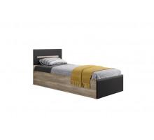 Кровать Наоми КР-12 с проложками ЛДСП, без матраса 90*200 Дуб каньон/Графит нубук