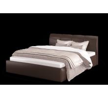 Кровать Ривьера 1200 экокожа Лесмо brown