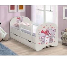 Кровать с фотопечатью с ящиками 800*1900 Котята (Белый)