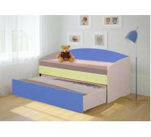 Кровать Софа-2 (Ваниль/Голубой)