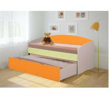 Кровать Софа-2 (Ваниль/Оранжевый)
