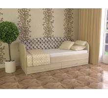 Кровать Софа-3 с мягким основанием 900 (Ясень шимо светлый)