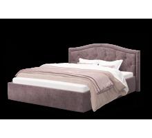 Кровать Стелла 1200 ткань ROCK 12/серо-фиолетовый
