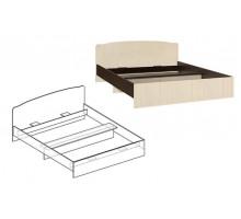 Кровать Светлана с фигурной спинкой 1200 (Венге/Дуб молочный)