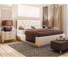 Кровать Версаль 1,6 поднастил ЛДСП, Белая