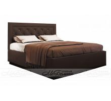 Кровать Версаль 1,6 поднастил ЛДСП, Шоколад