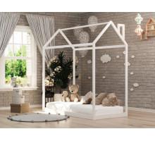 Кроватка-домик из массива Анита-9 Белый 800*1900