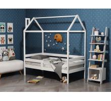 Кроватка-домик из массива с бортиками Анита-6 Белый 800*1900