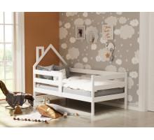 Кроватка-домик с бортиками из массива Анита-4 Белый 800*1900