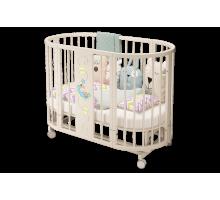 Кроватка детская «Эстель» овальная слоновая кость