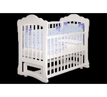 Кроватка детская Амалия 2 маятник белый