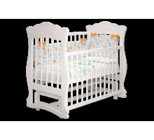 Кроватка детская Елена 2 маятник белый