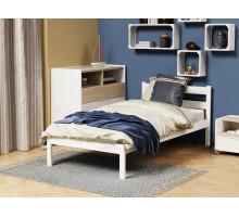 Кроватка из массива Анита-1 Белый 800*1600