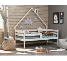 Кроватка из массива с бортиками Анита-2 Белый 800*1600