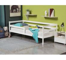 Кроватка из массива с бортиками Анита-3 Белый 900*1800
