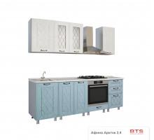Кухня Афина айс/арктик 2.4 м