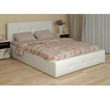 Линда Кровать интерьерная 140*200 см (с под. механизмом и ящиком для белья), белый
