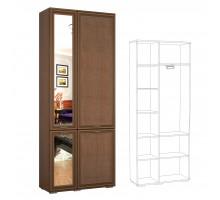 ЛШ-9 Шкаф комбинированный с зеркалом Ливорно, Орех
