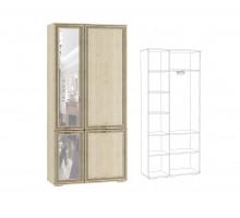 ЛШ-9 Шкаф комбинированный с зеркалом Ливорно, Сонома
