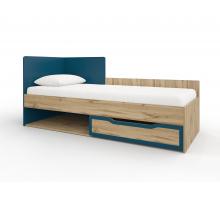 МАЙАМИ мод.11М Кровать (Дуб ирландский/Синий), без матраса