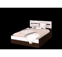 Мишель Кровать 1600 без основания венге/белый страйп