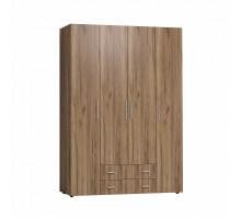 Монако 555 Шкаф для одежды и белья Стандарт(глухие двери) (Дуб табачный Craft)