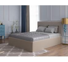 Мягкая кровать Милана (Велюр, Перт 03) 1400*2000 с ПМ