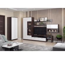 Набор мебели в гостиную Денвер (Венге/Белый глянец)