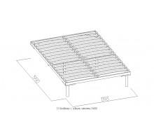 Основание универсальное с гибкими ламелями (1400), металл