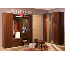 Прихожая Sherlock (Шерлок), Орех шоколадный. Компоновка 1