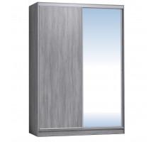 Шкаф-купе 1600 Домашний зеркало/лдсп + шлегель,Atelier светлый
