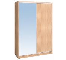Шкаф-купе 1600 Домашний зеркало/лдсп + шлегель, Дуб Сонома