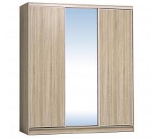 Шкаф-купе 2000 Домашний зеркало/лдсп + шлегель, Дуб сонома