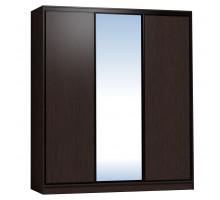 Шкаф-купе 2000 Домашний зеркало/лдсп + шлегель, Венге
