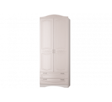 Шкаф2-х дв. с 2 ящиками Виола 2 Жемчуг