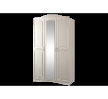 Шкаф 3-х дв.с накладным зеркалом Виола 2 Жемчуг