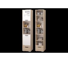 Шкаф для книг с ящиками и дверкой Джуниор