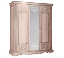 Шкаф для одежды 3Д Амелия КМК 0435.10 Дуб Молочный
