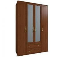 Шкаф для одежды и белья 1 Милана (Орех)